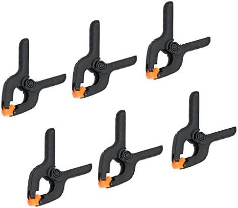 スプリングクランプ 6個セット DIY工具 固定クリップ 木工ツール 4インチ プラスチック