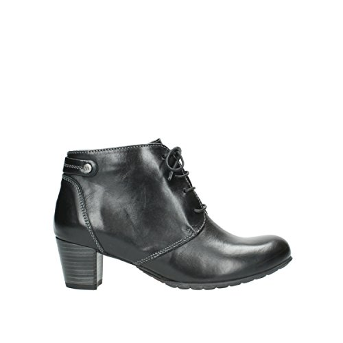 Wolky Black Ball Lace Leather up Boots 37 Comfort 30000 R7wfzrRnPq