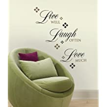 RoomMates RMK1396SCS Live, Love, Laugh Peel and Stick Wall Decals