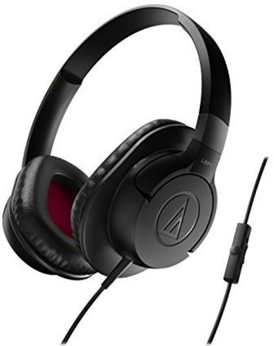 Audio-Technica ATH-AX1iSBK SonicFuel Over-Ear Headphones for
