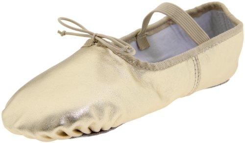 Dance Class Damen B902 Vollsohle Metallic Ballet Slipper Gold