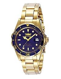 Invicta Pro Diver - Reloj de pulsera para hombre (37,5 mm, acero inoxidable y tono dorado), Pro Diver GQ, Azul