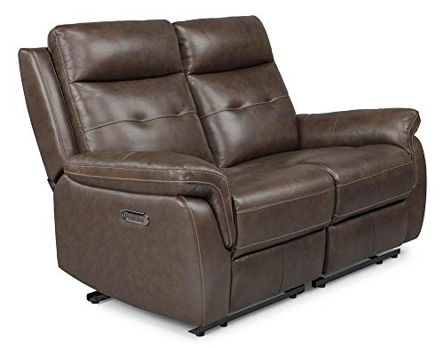 Home Styles 5325-60 homestyles by Flexsteel Lux Leather Power Motion Reclining Love Seat W-58 ¼