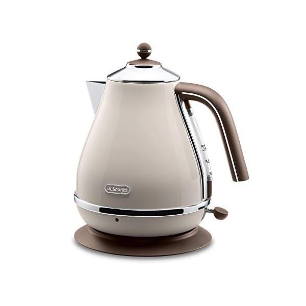 Delonghi Electric kettle (1.0L)「ICONA Vintage Collection」KBOV1200J-BG (Dolce Beige)【Japan Domestic genuine products】 1