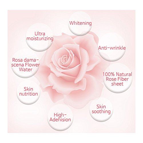 Beaucros-Korea-Natural-Rose-Facial-Mask-Pack-25ml-of-essence-x-10-sheets