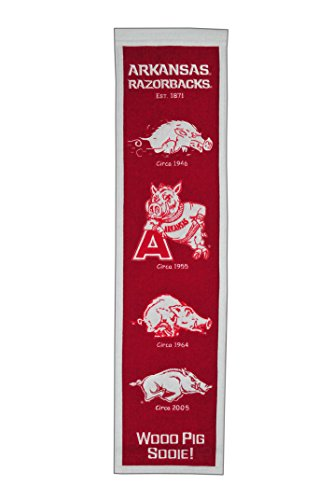 NCAA Arkansas Razorbacks Heritage Banner Arkansas Razorbacks Ncaa Applique