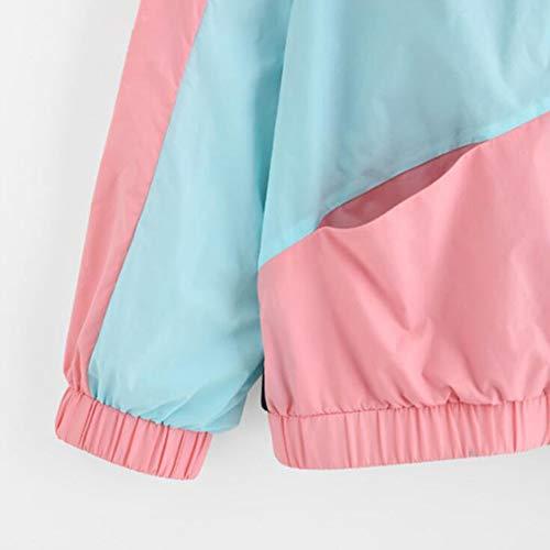 Cappuccio Outdoor Con Huateng Solare Felpa Giacca Protezione A Baseball Donna Colori Abbinare Abbigliamento Elegante Da Casual Jogging YqwE5w