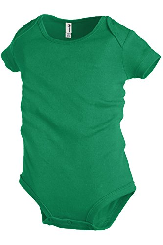 Plain Basic Infant Baby Boys Or Girls Creeper   Onesie   Bodysuit   Snapsuit  3 Mo   Green
