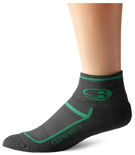 Icebreaker Men's Multisport Ultra Light Cushion Mini Socks, Oil/Turf, X-Large ()