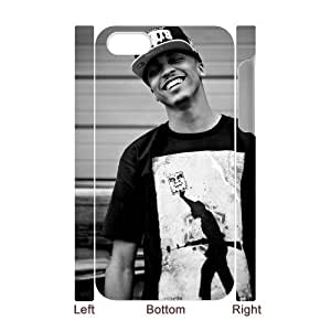 Customized Protective Hard 3D Plastic Case for Iphone 4,4S - August Alsina personalized 3D case at CHXTT-C