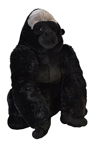 - Wild Republic Silverback Gorilla Plush, Stuffed Animal, Plush Toy, Gifts for Kids, Little biggies 30 Inches