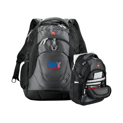 CUNYAC Wenger Swiss Army Tech Charcoal Compu Backpack 'Official Logo' by CollegeFanGear