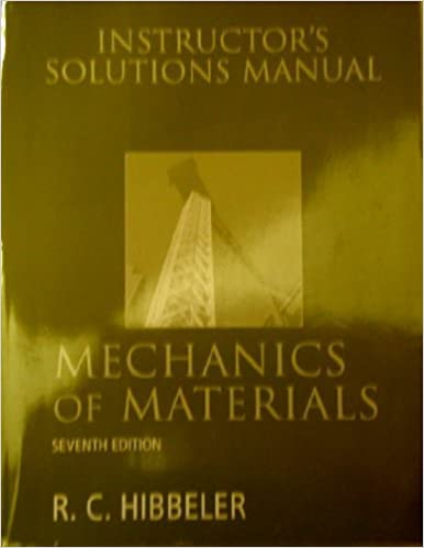 Mechanics of materials instructors solutions manual r c mechanics of materials instructors solutions manual r c hibbeler 9780132209922 amazon books fandeluxe Choice Image