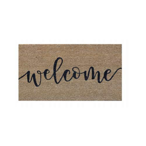 PALM FIBRE PRIVATE PLM 31622 18x30 Welcome Cursive Coir Vinyl Backed Door Mat