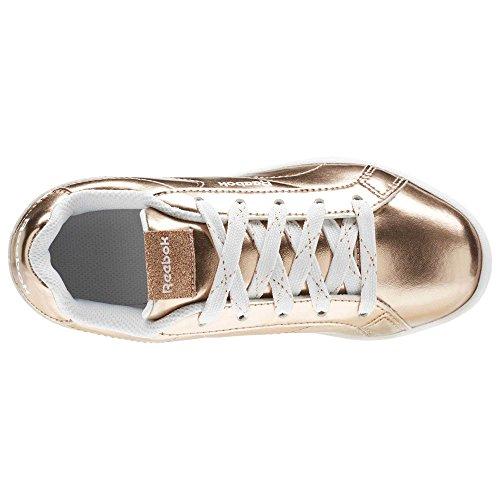Rosa Eu white 34 Niñas Zapatillas De Para Metallic Tenis 000 Gold rose Royal Reebok Cln 5 Complete Hw11BR
