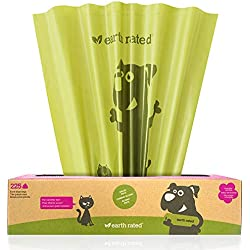Earth Rated Extra Large Poop Bags, Lavender-scented, Poop Bags for Large Dogs, 225 Bags on a Large Single Roll, Each Cat Poop Bag Measures 11 x 13 inches