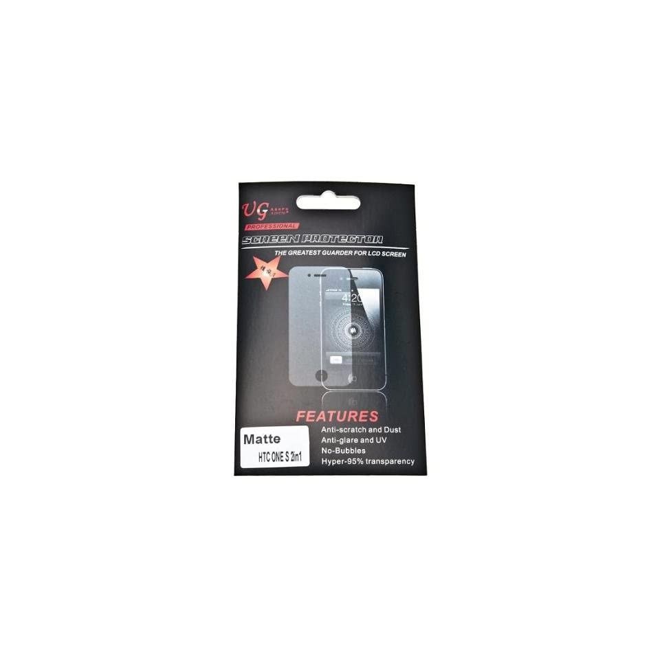 Anti glare Matte LCD Screen Protector Film for HTC One S   2 pack
