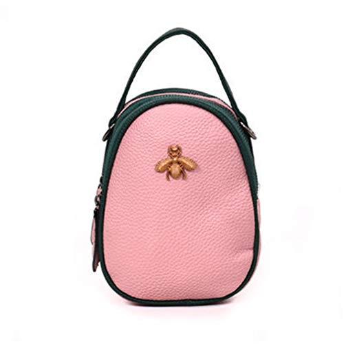 pour à Cuir Pink Femme White PU Sac Main en 13cm8cm18cm ZXxwfw