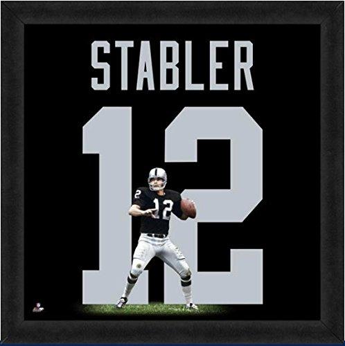 Oakland Raiders Ken (Oakland Raiders Ken Stabler #12 Players Jersey UniFrame)