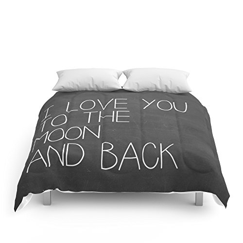 Society6 I Love You To The Moon And Back Comforters Queen: 88'' x 88'' by Society6