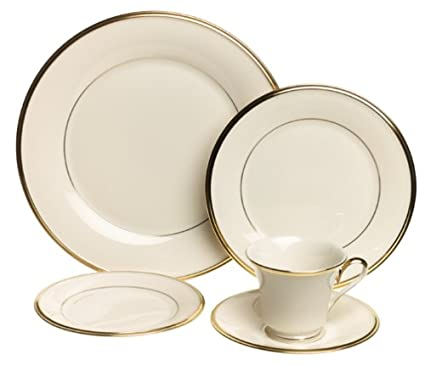 Lenox Eternal Gold-Banded Fine China 20-Piece Dinnerware Set Service for 4  sc 1 st  Amazon.com & Amazon.com | Lenox Eternal Gold-Banded Fine China 20-Piece ...