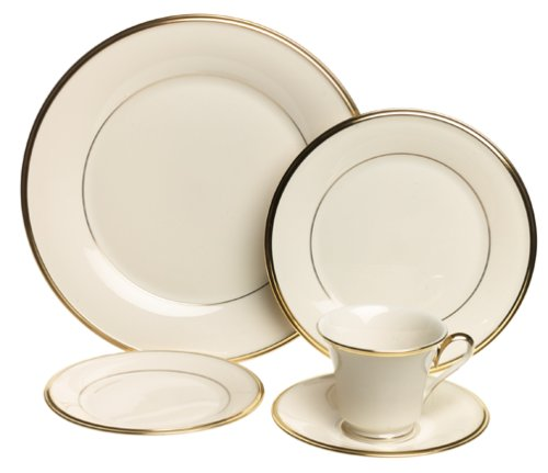 Eternal Fine Dinnerware (Lenox Eternal Gold-Banded Fine China 20-Piece Dinnerware Set, Service for 4)