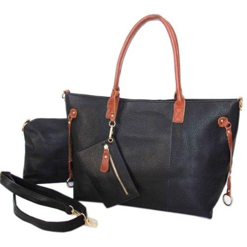 Avashion - Bolso de tela para mujer negro - negro