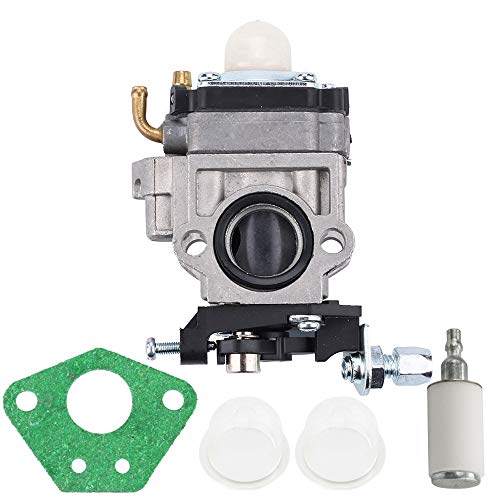 Kizut Carburetor for 49cc 43cc Pocket Rocket Bike 15MM 2 Stroke Gas Scooter Mini-Chopper Carb