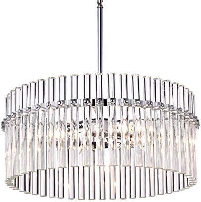 Jojospring Casandra 4-Light Chrome Pendant Crystal Chandelier