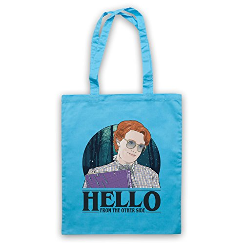 Stranger Things Barb Hello From The Other Side Bolso Azul Cielo