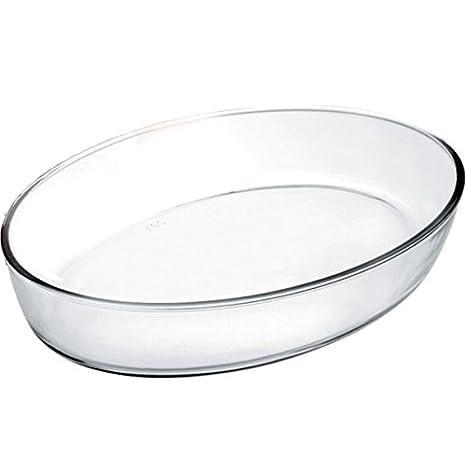 IBILI 480135 - Fuente Horno Oval Kristall 35X25X6,50 Cm: Amazon.es: Hogar