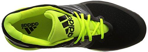adidas Stabil4ever, Zapatillas de Deporte Interior para Hombre Negro - Noir (Core Black/Solar Yellow/White)