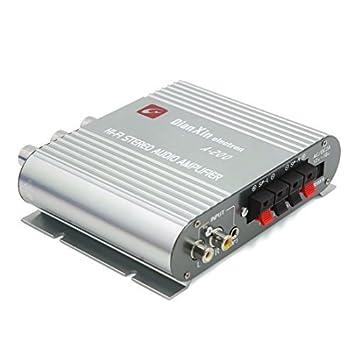 DealMux astilla del tono de potencia Display Digital MP3 FM del coche de alta fidelidad amplificador