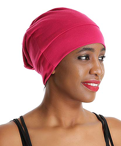 Lined Bonnet - Satin Silk Sleep Slap Cap Chemo Bonnet -Sleeping Night hat Curly Hair Treatment Women Satin Lined hat Scarf Wine Red