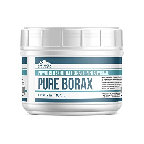 Borax Powder (2 lbs.)) by Earthborn Elements, Resealable Tub, All-Natural Multipurpose Cleaner, Detergent Booster, and Slime Ingredient (Boric Acid And Sugar Recipe For Ants)