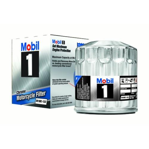 Mobil 1 M1MC-132 Chrome Motorcycle Oil Filter