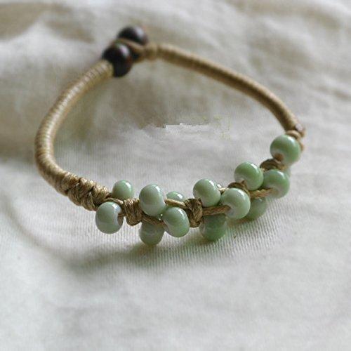 Handmade bracelets literary small fresh Sen Deparent of knitting small Douding ceramic bracelet jewelry Shu yo student cloves