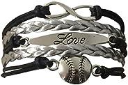 Softball Charm Bracelet - Baseball Bracelet - Baseball Jewelry, Softball Player Gift for Women,Teens and Girls