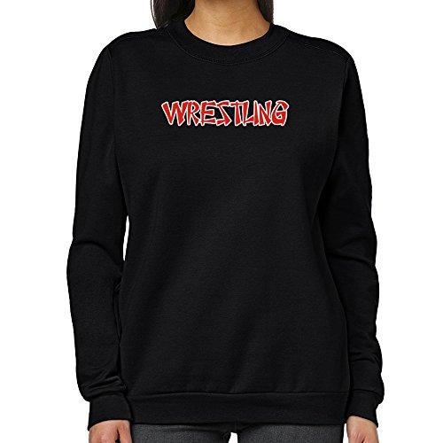 Teeburon Wrestling oriental style Women Sweatshirt by Teeburon