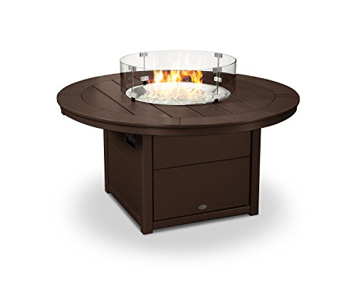 POLYWOOD Round 48″ Fire Pit Table (Mahogany) Review