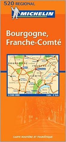 Carte De Bourgogne Michelin.Michelin France Bourgogne France Comte Map Michelin 9782061008232