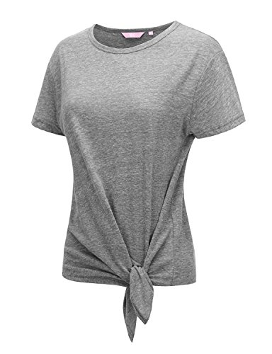Regna X Cute Yoga Short Sleeve Summer Clothes Workout Clothes for Women Grey S