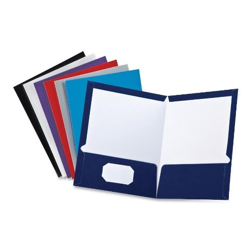 Oxford Laminated Twin Pocket Folders 8.50