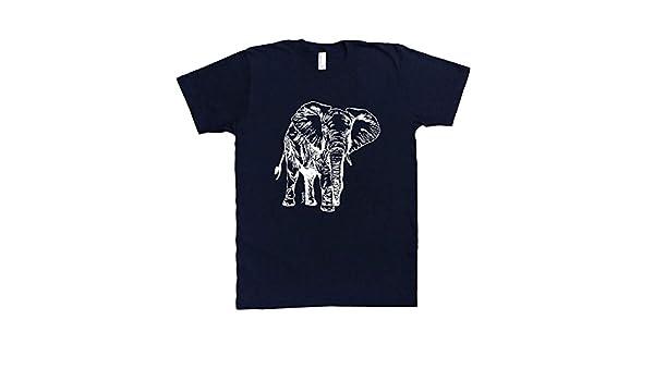 ecbfda16fc967e Amazon.com  Mens Tshirt - Elephant Tee - Animal Funny Graphic Printed Short  Sleeve S M L XL XXL T Shirts  Handmade