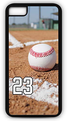 iPhone 7 Phone Case Baseball B107Z by TYD Designs in Black Plastic Choose Your Own Or Player Jersey Number 23 ()