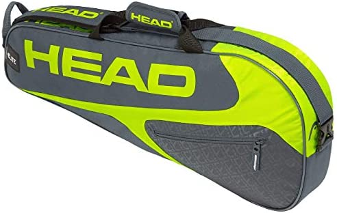 HEAD Elite Pro 3 Racquet Bag (Grey/Yellow)