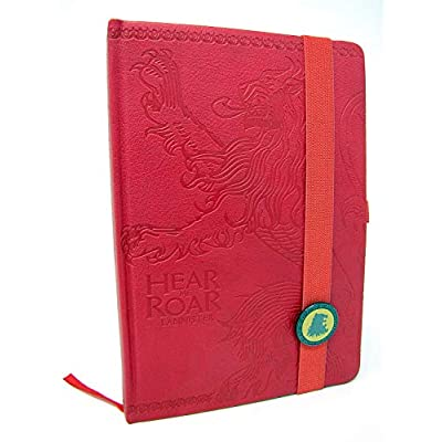 Official Game of Thrones Season 8 Premium 240 Lined Page Journal Notebook Westeros and Essos Maps Inside (House Lannister) inch: Toys & Games