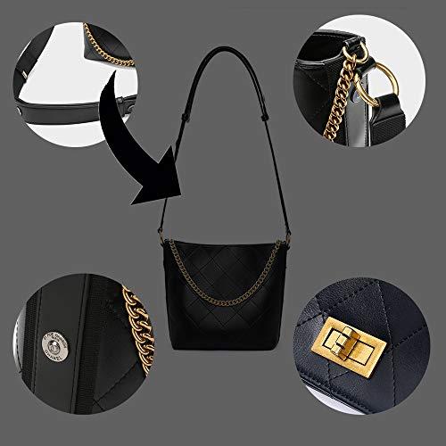 De Monedero Medio Caramelo 2018 Cadena Cubo Acolchada Elegante Shmona Moda Con Bolsa Bandolera Nueva Ftx7nOT
