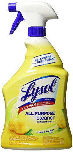 Lysol All-Purpose Cleaner Trigger, Lemon Breeze Scent, 32 Fluid Ounce, 2 (Lysol All Purpose Cleaner)