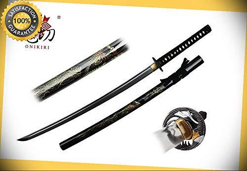 Onikiri #45 Full Tang Blade Japanese Handmade Samurai Sword Phoenix Scabbard NEW perfect for cosplay outdoor -